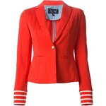 ARMANI JEANS striped cuffs blazer