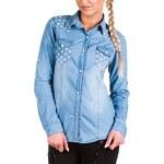 Dámská jeans košile L.D.Style - blue denim