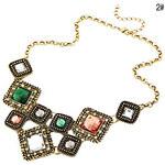 LightInTheBox Luxury Fashion Gem Square Short Necklace