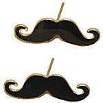 LightInTheBox Mustache Spray Paint Earrings Black
