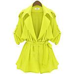 LightInTheBox Women's Fashion Lapel Trenchcoat