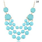 LightInTheBox Alloy Candy Color Bead Connected Necklace(Assorted Colors)
