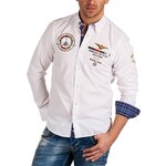 Pánská košile BINDER DE LUXE s výšivkami - White