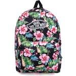 Černý batoh s barevnými květinami Vans Realm