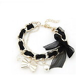 LightInTheBox Fashion Alloy with Pearl Bowknot Bracelet(More Colors)