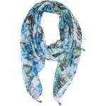 Tyrkysový květovaný šátek Haily´s Flori