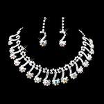 LightInTheBox Wedding Bridal Bridesmaid Crystal Necklace Earrings Jewelry Set