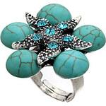 LightInTheBox Turquoise Rhinestone Adjustable Flower Ring