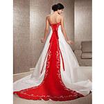 LightInTheBox A-line Strapless Satin Chapel Train Wedding Dress