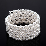 LightInTheBox Exquisite Ladies' Rhinestone Strand/Tennis Bracelet In White Pearl