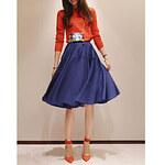 LightInTheBox Women's Vintage Pleated A-line Skirt