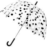 Průhledný deštník s černo-bílými puntíky Lindy Lou Chaplin