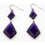 LightInTheBox Elegant Alloy With Purple Rhinestone Earrings