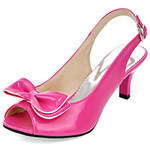 LightInTheBox Patent Leather Kitten Heel Sandals / Peep Toe With Bowknot Party Evening Shoes (More Colors Available)