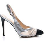 BELLE WOMEN Stříbrné stylové dámské lodičky - 50454S / S3-76P