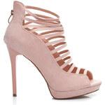 BELLE WOMEN Oslnivé růžové dámské sandálky - 50335P / S3-98P