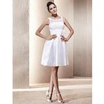 LightInTheBox A-line Scoop Short/Mini Taffeta Wedding Dress