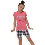 Pyžamo dívčí Italian Fashion Oliwia kr.r. kr.k., růžová