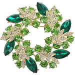 LightInTheBox Multicolor Garland Autrian Crytal Pin Brooch (Emerald)