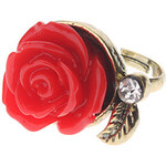 LightInTheBox Vintage Style Red Rose Ring