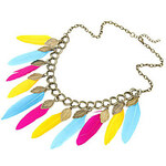 LightInTheBox Colourful Feathers Alloy Fabric Necklace