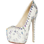 LightInTheBox Gorgeous Patent Leather Pearl And Rhinestones Stiletto Heel Closed Toe Pumps Party / Evening Shoes
