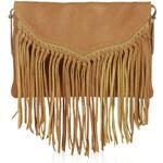 Topshop Leather Tassel Crossbody Bag