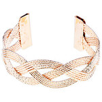 LightInTheBox Stripe Carve Braided Bangle Cuff (Assorted Color)