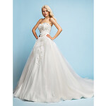 LightInTheBox A-line/Princess Sweetheart Court Train Tulle Wedding Dress