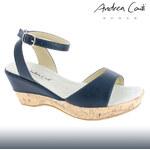 Andrea Conti Leder-Sandale mit Kork-Optik - 40