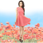 Lesara Kleid mit Statementkette - M-L