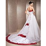 LightInTheBox A-line Strapless Chapel Train Satin Wedding Dress