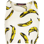 Topshop **Sporty Banana Crop Top by Kuccia
