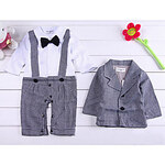 LightInTheBox Boy's Spring Autumn Long Sleeve ShirtsSuspenders Design RompersCoat Cotton Twinsets for 70~100cm