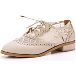 LightInTheBox Faux Leather/Lace Chunky Heel Comfort Oxford Shoes(More Colors)