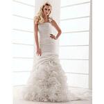 LightInTheBox Trumpet/Mermaid One Shoulder Court Train Taffeta Wedding Dress