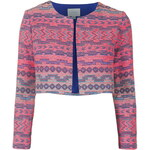 Topshop **Marble Cropped Throw-On Jacket by Jovonna