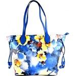 Modrá květinová kabelka na rameno Vilien Bellasi 2998