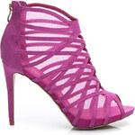 BELLE WOMEN Perfektní fuschiové dámské sandály - 50341F / S3-19P