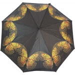 Blooming Brollies Dámský skládací mechanický deštník Artbrollies Yellow Buttrefly ARFYBF - SLEVA