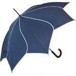 Blooming Brollies Dámský holový vystřelovací deštník Swirl Navy EDSSWN - SLEVA