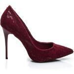 BELLUCCI Luxusní červené lakované lodičky na podpatku, vel. 36