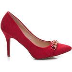 BELLE WOMEN Červené stylové a pohodlné lodičky, vel. 36