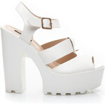 SERGIO TODZI Atraktivní bílé sandály, vel. 40