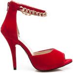 KOI Velkolepé čerrvené dámské sandály, vel. 37