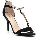 BELLUCCI Sexy černé dámské sandály, vel. 37
