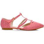 ANESIA PARIS Překrásné růžové baleríny s kamínky, vel. 38