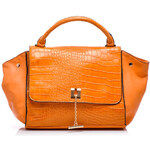 VICES Klasická oranžová kabelka se zvířecím vzorem, vel. univerzální