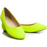 MANNIKA Žluté dámské baleríny - L809Y / S3-103P