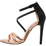 Buffalo High Heel Sandaletten blod mirror metallic/black/rose gold
